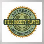 Jugador de hockey hierba auténtico posters