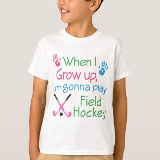 Jugador de hockey hierba (futuro) remera