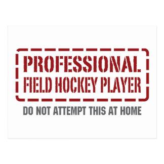 Jugador de hockey hierba profesional tarjeta postal