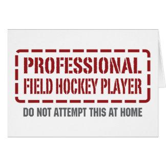 Jugador de hockey hierba profesional tarjeton