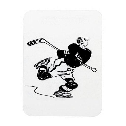 Jugador de hockey imán flexible