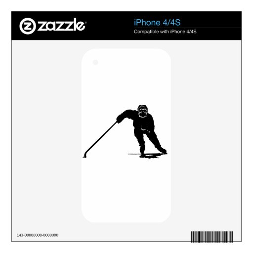 Jugador de hockey iPhone 4 skins