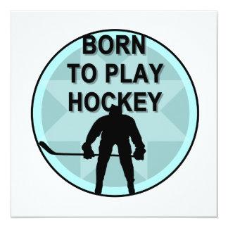 Jugador de hockey llevado para jugar las camisetas comunicados personales