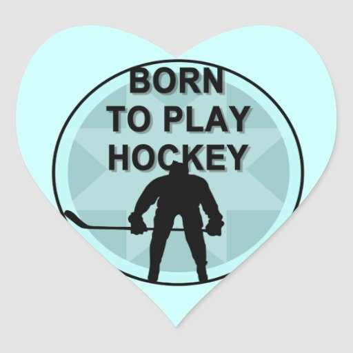 Jugador de hockey llevado para jugar las camisetas pegatina de corazon