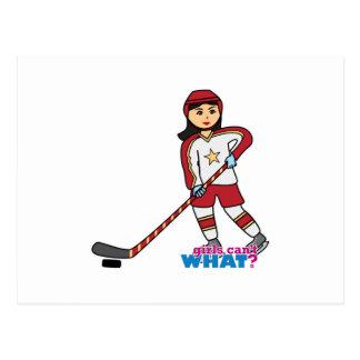 Jugador de hockey - medio postales