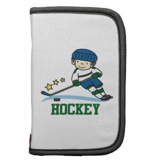 Jugador de hockey organizador