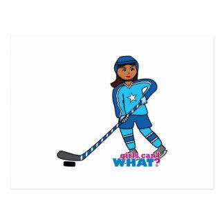 Jugador de hockey - oscuridad con el uniforme del  postales