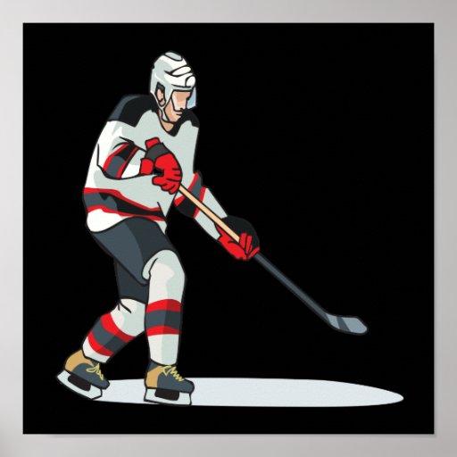 Jugador de hockey poster