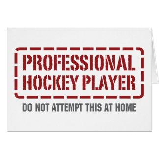 Jugador de hockey profesional felicitación