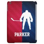 Jugador de hockey; Rojo, blanco, y azul