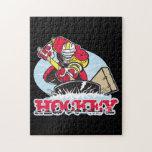 Jugador de hockey rompecabeza