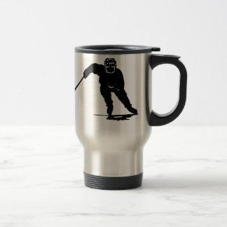 Jugador de hockey taza de viaje