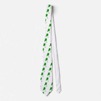 Jugador de hockey verde corbatas personalizadas
