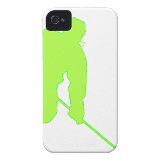 Jugador de hockey verde Case-Mate iPhone 4 protectores