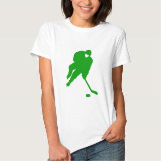 Jugador de hockey verde remeras