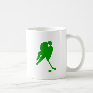 Jugador de hockey verde taza