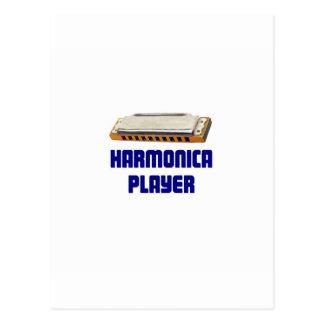 Jugador de la armónica postales