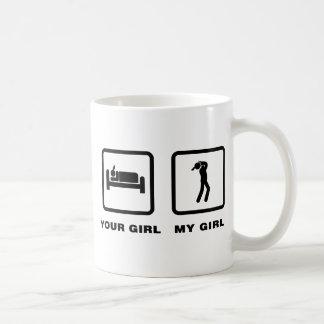 Jugador de la armónica tazas de café