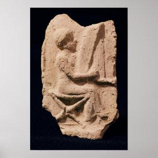 Jugador de la arpa, 1830-1600 A.C. Poster