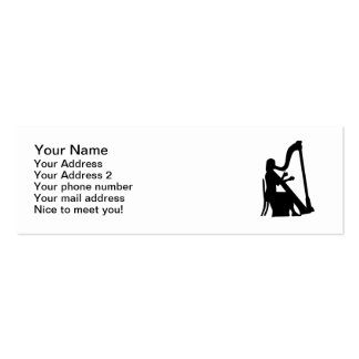 Jugador de la arpa tarjetas de visita