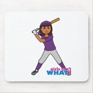 Jugador de la bola - uniforme de la púrpura tapetes de raton