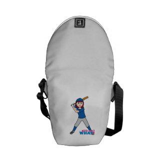 Jugador de la bola - uniforme del azul bolsa de mensajería