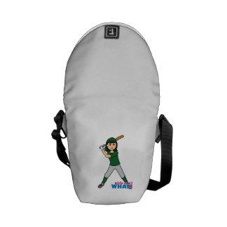 Jugador de la bola - uniforme verde bolsa de mensajeria