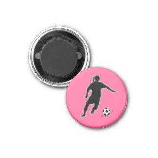 Jugador de la ETIQUETA del chica del fútbol Imán Redondo 3 Cm