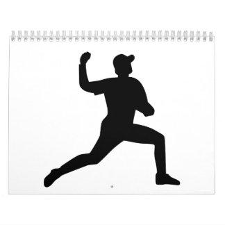 Jugador de la jarra del béisbol calendarios