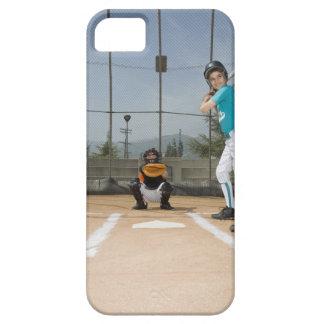 Jugador de la liga pequeña hasta palo funda para iPhone SE/5/5s