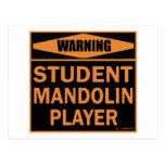 Jugador de la mandolina del estudiante postal