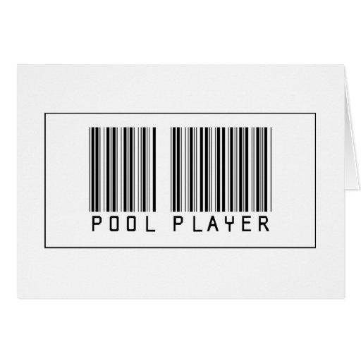 Jugador de la piscina del código de barras felicitacion