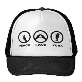 Jugador de la tuba gorra