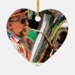 Jugador de la tuba ornamentos de navidad