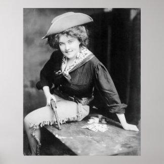Jugador de la vaquera: 1909 posters