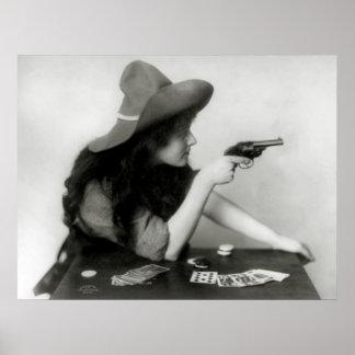 Jugador de la vaquera: 1912 posters