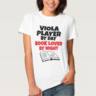 Jugador de la viola del aficionado a los libros playera