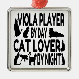 Jugador de la viola del amante del gato adornos