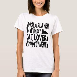 Jugador de la viola del amante del gato playera