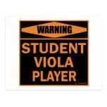 Jugador de la viola del estudiante tarjetas postales
