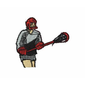 Jugador de LaCrosse bordado en la manga de la Camiseta Polo