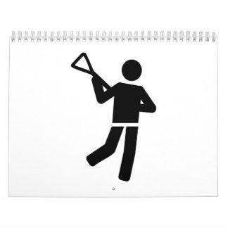 Jugador de LaCrosse Calendarios
