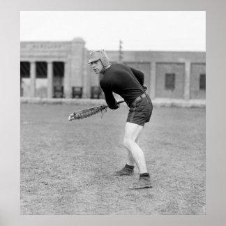 jugador de LaCrosse de los años 20 Póster