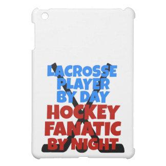 Jugador de LaCrosse del amante del hockey
