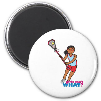 Jugador de LaCrosse del chica - oscuridad Iman De Nevera