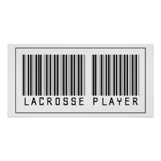Jugador de LaCrosse del código de barras Impresiones
