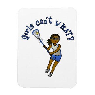 Jugador de LaCrosse en azul Iman Flexible