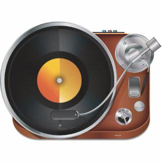 Jugador de música de DJ Escultura Fotográfica