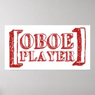 Jugador de Oboe Póster