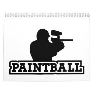 Jugador de Paintball Calendarios